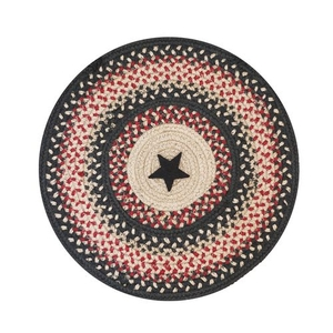 "Homespice Decor 15"" Trivet Round Primitive Star Gloucester Jute Braided Accessories"