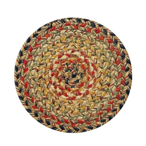 "Homespice Decor 8"" Trivet Round Kingston Jute Braided Accessories"