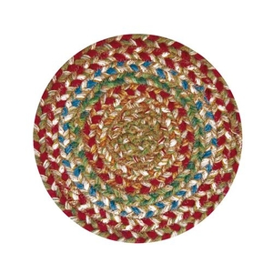 "Homespice Decor 8"" Trivet Round Azalea Jute Braided Accessories"