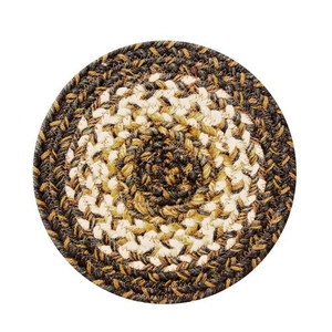 "Homespice Decor 8"" Trivet Round Kilimanjaro Jute Braided Accessories"
