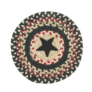 "Homespice Decor 8"" Trivet Round Primitive Star Gloucester Jute Braided Accessories"