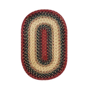 """Homespice Decor 13"""" x 19"""" Placemat Oval Highland Jute Braided Accessories"""