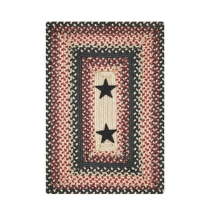 """Homespice Decor 13"""" x 19"""" Placemat Rect. Primitive Star Gloucester Jute Braided Accessories"""