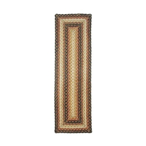 "Homespice Decor 8"" x 28"" Stair Tread Rect. Russett Jute Braided Accessories"