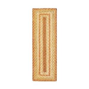 "Homespice Decor 8"" x 28"" Stair Tread Rect. Harvest Jute Braided Accessories"