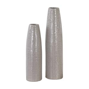 Uttermost Sara Textured Ceramic Vases S/2