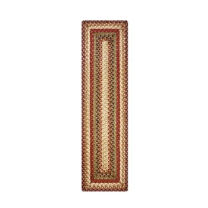 """Homespice Decor 8"""" x 28"""" Small Table Runner Rect. Gingerbread Jute Braided Accessories"""