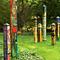 Faith, Hope And Love 4' Art Pole for Yard