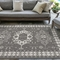 "Liora Manne Carmel Kilim Indoor/Outdoor Rug Grey 39""x59"""