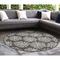 "Liora Manne Carmel Coral Indoor/Outdoor Rug Grey 7'10"" RD"