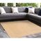 """Liora Manne Carmel Gingham Border Indoor/Outdoor Rug Sand 7'10"""" SQ"""