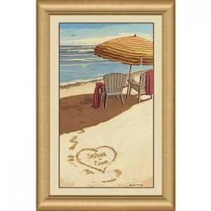 Personalized Sea Breeze Framed Print
