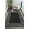 """Liora Manne Carmel Gingham Border Indoor/Outdoor Rug Black 6'6""""x9'4"""""""