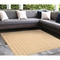 "Liora Manne Carmel Gingham Indoor/Outdoor Rug Sand 7'10"" SQ"
