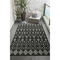 "Liora Manne Carmel Marrakech Indoor/Outdoor Rug Black 6'6""x9'4"""