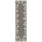 "Liora Manne Carmel Coral Border Indoor/Outdoor Rug Grey 23""x7'6"""