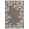 "Liora Manne Carmel Coral Border Indoor/Outdoor Rug Grey 4'10""x7'6"""