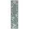 "Liora Manne Carmel Seashell Border Indoor/Outdoor Rug Aqua 23""x7'6"""