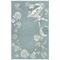 "Liora Manne Carmel Seashell Border Indoor/Outdoor Rug Aqua 4'10""x7'6"""