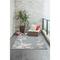 "Liora Manne Carmel Seashell Border Indoor/Outdoor Rug Aqua 7'10""x9'10"""