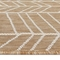 "Liora Manne Carmel Chevron Indoor/Outdoor Rug Sand 7'10"" SQ"
