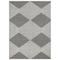 """Liora Manne Cove Tribal Diamond Indoor/Outdoor Rug Grey 8'10""""x11'1"""""""