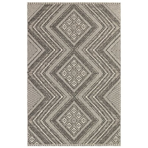 "Liora Manne Cove Kilim Indoor/Outdoor Rug Charcoal 	7'10""x9'3"""