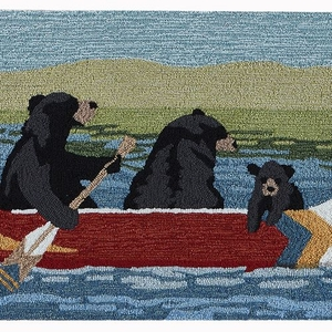 "Liora Manne Frontporch Are We Bear Yet? Indoor/Outdoor Rug Lake 24""x36"""