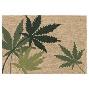 "Liora Manne Frontporch Laughing Grass Indoor/Outdoor Rug Natural 24""x36"""