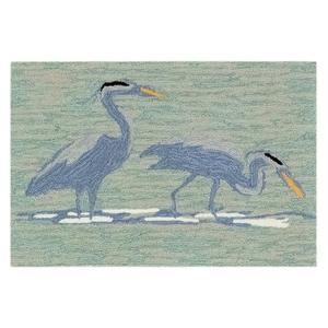 """Liora Manne Frontporch Blue Heron Indoor/Outdoor Rug Lake 20""""x30"""""""