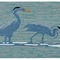 "Liora Manne Frontporch Blue Heron Indoor/Outdoor Rug Lake 30""x48"""