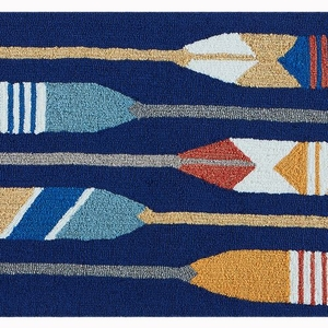 "Liora Manne Frontporch Paddles Indoor/Outdoor Rug Navy 24""x36"""