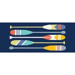 """Liora Manne Frontporch Paddles Indoor/Outdoor Rug Navy 24""""x60"""""""