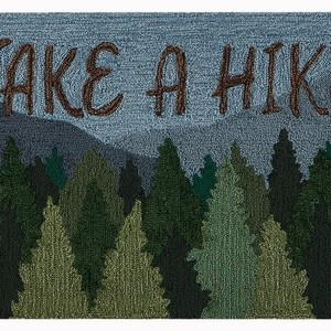 "Liora Manne Frontporch Take A Hike Indoor/Outdoor Rug Forest 24""x36"""