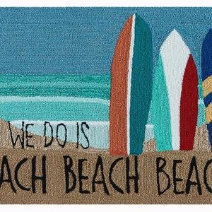 """Liora Manne Frontporch Beach Beach Indoor/Outdoor Rug Ocean 30""""x48"""""""