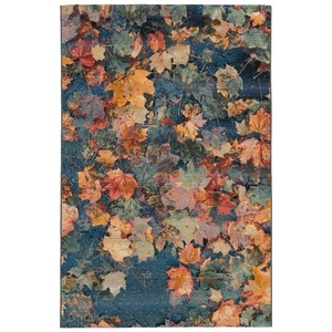 "Liora Manne Marina Fall In Love Indoor/Outdoor Rug Multi 4'10""x7'6"""