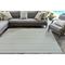 "Liora Manne Plymouth Texture Stripe Indoor/Outdoor Rug Aqua 6'6""x9'4"""