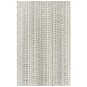 "Liora Manne Plymouth Texture Stripe Indoor/Outdoor Rug Silver 6'6""x9'4"""
