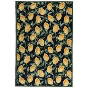 "Liora Manne Ravella Lemon Indoor/Outdoor Rug Black 7'6""x9'6"""