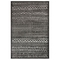 "Liora Manne Rialto Tribal Stripe Indoor/Outdoor Rug Charcoal 6'6""x9'4"""