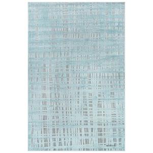 "Liora Manne Rialto Grid Indoor/Outdoor Rug Aqua 6'6""x9'4"""