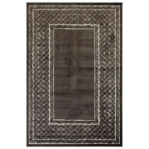 "Liora Manne Rialto Border Indoor/Outdoor Rug Charcoal 6'6""x9'4"""