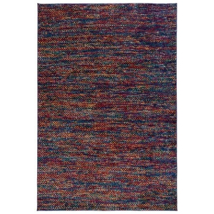 "Liora Manne Fiesta Tweed Indoor Rug Blue 39""x59"""