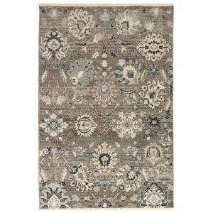 """Liora Manne Hampton Vintage Floral Indoor Rug Charcoal 23""""x7'6"""""""