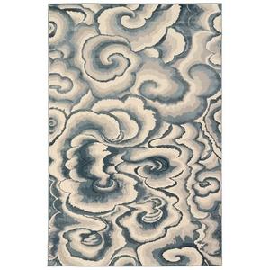 "Liora Manne Soho Clouds Indoor Rug Blue 23""x7'6"""
