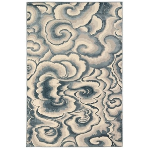 "Liora Manne Soho Clouds Indoor Rug Blue 8'10""x11'9"""