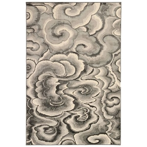 "Liora Manne Soho Clouds Indoor Rug Charcoal 23""x7'6"""