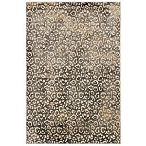 """Liora Manne Soho Leopard Indoor Rug Black 7'10""""x9'10"""""""
