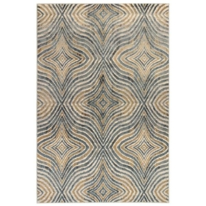 "Liora Manne Soho Optical Indoor Rug Blue 5'3""x7'6"""