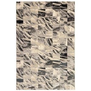 "Liora Manne Taos Squares Indoor Rug Grey 5'x7'6"""